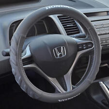 Gray Cushion Grip Synth Leather Steering Wheel Cover for Honda Accord 2008-16