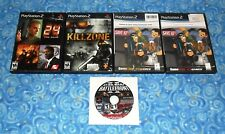 Sony Playstation 2 Lot of 5 Games with Star Wars Battlefront II Tested Excellent