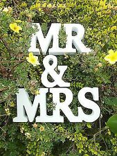 FAST SHIP NEW WEDDING GIFT WHITE WOOD MR & MRS LETTERS MR & MRS SIGNS MR AND MRS