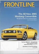 Official Ford Dealer Frontline Magazine April/May 2005 Mustang Convertible Intro