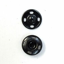 New Sew-On Snaps Fasteners Size:10mm 144 sets package, Color: Black