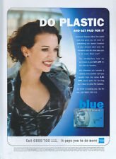 "American Express Blue ""Do Plastic"" 1999 Magazine Advert #4226"