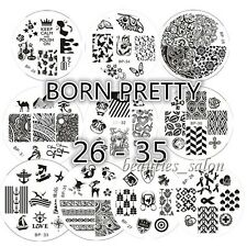 10Pcs/Set BORN PRETTY Nail Art Stamping Plates Image Stamp Template  26-35