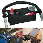 Baby Stroller Pram Pushchair Safe Console Tray Cup Holder Organizer Bag Black