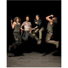 The Walking Dead maggie, Rick, Glenn, and Daryl jumping 8 x 10 Inch Photo
