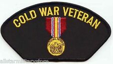 Cold War Veteran Embroidered Patch US Military National Defense Medal Gift