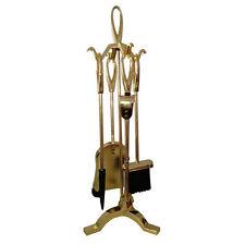 Set 4 accessori attrezzi per camino caminetto H63 cm fuoco stufa legna 095002