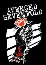"AVENGED SEVENFOLD AUFKLEBER / STICKER # 11 ""ROSEHANDS"""