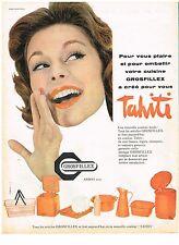 PUBLICITE ADVERTISING  1958   GROSFILLEX  plastiques TAHITI