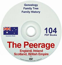 Family History Tree Genealogy Peerage Titles Families England Ireland Scotland
