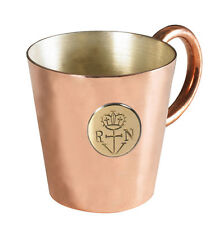 Copper Brass 1/2 Gill Royal Navy Rum Mug RN British Anchor Tot Measure