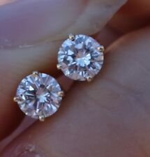 5mm 1ct H/Si1-Si2 Diamond stud earrings 14k YG