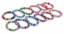 Armband Fimoperlen, 12er Set Schmuckset Armreif Perlenkette Kette Kinderschmuck