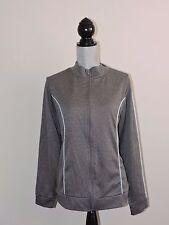 Venezia Sport Lane Bryant Gray Soft Shell Jacket Workout Walking 18/20 Full Zip