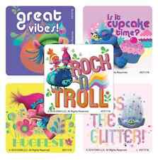 "30 Trolls Movie Stickers, Assorted 2.5""x2.5"" each, Party Favors"