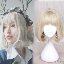 Sweet Lolita Mori Girl  KHAKI Japanese Harajuku Short Curly Princess Cosplay Wig