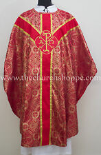 Gothic Red metallic vestment & stole set Gothic chasuble,casula,casel,CASULLA