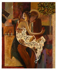 """ADAM AND EVE"" by SABZI. MAGNIFICENT!  VERY LARGE GICLEE ON CANVAS. MINT 40x50"
