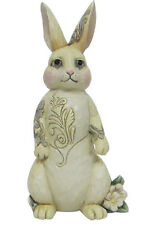 JIM SHORE HEARTWOOD CREEK~ WHITE WOODLAND BUNNY~WINTER~SPRING~EASTER~4056969