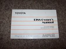 1988 Toyota MR2 MR 2 Factory Owner Owner's User Guide Manual RARE ORIGINAL