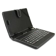 "Black Leather Stand Case w/ USB Keyboard & Stylus for Google Nexus 7 7"" Tablet"