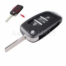 For Peugeot 207 307 407 308 607 3 Button Remote Flip Key Shell Fob with Groove
