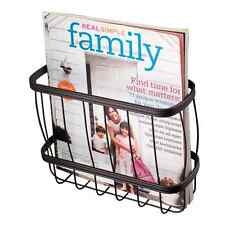 New Bronze Bathroom Toilet Magazine Rack Newspaper Holder Sturdy Metal Wire Top