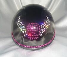 Bling Motorcycle Helmet made with Swarovski® Crystal Design-Black -VH22*