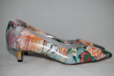 New MSGM Floral Print Woman's Pump Low-Heel Point Toe Designer Shoe 7.5 US/ 37.5
