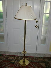 RARE BALDWIN BRASS CANDLESTICK  FLOOR LAMP  WILLIAMSBURG STYLE CATHEDRAL BASE