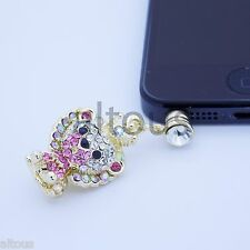 ANTI DUST PLUG CHARM DIAMOND SIMBA FOR APPLE SAMSUNG HTC MOTOROLA HUAWEI ZTE
