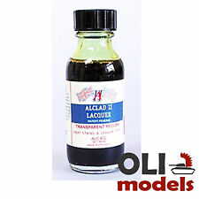 Transparent Yellow Lacquer 1oz Bottle - ALCLAD II LACQUER 402