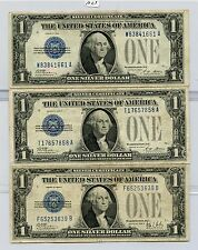 Five Mixed 1928 $1 Silver Certificates (#1023) Decent. No Holes. Carefully Check
