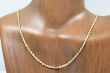 14k Solid Gold Italian Made Rope Chain 16 Inches 1.6mm Family & Friends