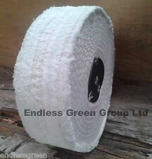 150mm x 40mm - Stitched Cotton Buffing Wheel - Wide Polishing Mop - C150/3