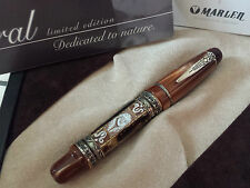Stylo plume vulpen fountain fullhalter MARLEN CORAL 18k nib writing