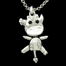 Twinkling Lovely Cow Animal Austria Crystal 18K White Gold-Plated Necklace