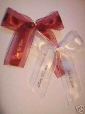"25 PERSONALIZED 1.5"" SATIN AND ORGANZA RIBBON Party Wedding Baby Shower favor"