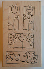 Sweet Pea Garden Rubber Stamp - Wood Mounted
