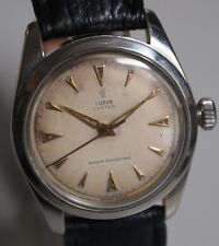 VINTAGE ORIGINAL TUDOR 17JEWELS HANDAUFZUG STAINLESS STEEL