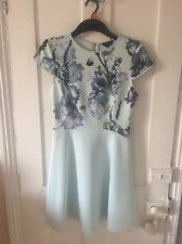 Ted Baker Mint Green, Floral Dress, Size 3