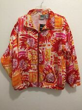 NWT NEW  EVR DIV Apparel Group 100% Silk Zip Jacket Women's Size Extra Large XL
