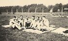 WWII German Large RP- Army Soldier- Semi Nude- Gay Interest- Group Huddle