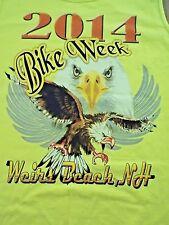 NWOT Mens (M) 2014 Bike Week Weirs Beach NH Sleeveless 100% Cotton Tank top