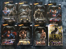 HOT WHEELS BATMAN VS SUPERMAN WALMART SET 7 CARS  2016 + BONUS CAR