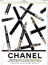 Chanel Duo Couleur French Accents Stick Emerald & Sapphire Shimmer Full Size