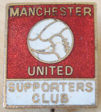 MANCHESTER UNITED Vintage SUPPORTERS CLUB Badge Maker COFFER LONDON 19mm x 22mm