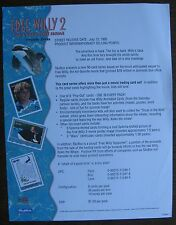 Free Willy 2 The Adventure Home Trading Cards Sell Sheet (no cards) 1995 SkyBox