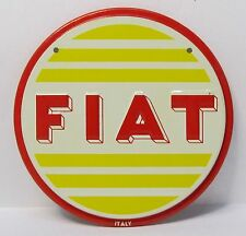 1950's FIAT metal car emblem plaque Wheaties Cereal Premium *