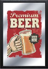 Barspiegel Food Beverage Beer ,  20 x 30 cm Retro, Nostalgie, Werbung